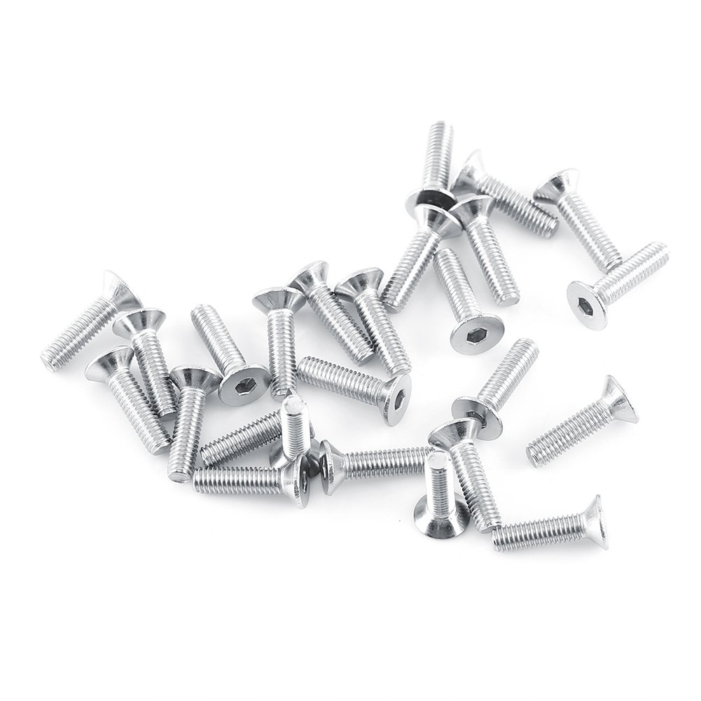 M3 A2 Stainless Steel Hex Socket Screws Bolt with Hex Nuts Assortment 250pcs Flat Head