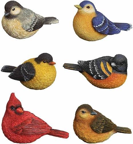 Amazon Com Carson Home Accents Cha57119 Songbird Classic Mini Bird Figurine Set Of 6 Mini Bird Figurines Home Kitchen