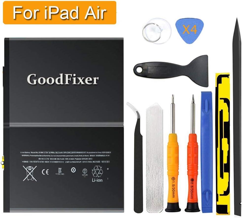 Bateria GoodFixer para iPad 5ta,6ta gen. A1474 A1475 A1476