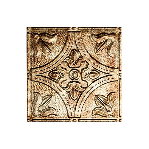 FASÄDE Easy Installation Traditional Style/Pattern #2 Bermuda Bronze Glue Up Ceiling Tile/Ceiling Panel (12X12 Inch Sample) ()