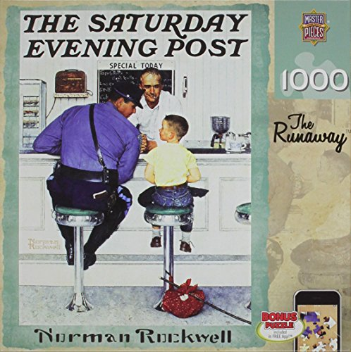 Run 1,000 Piece Puzzle (MasterPieces Puzzle Company Saturday Evening Post Runaway Jigsaw Puzzle (1000-Piece), Art by Norman)