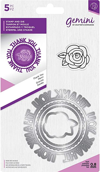 Crafters Companion Gemini SENTIMENT STAMP /& CIRCULAR DIE Special Day 7.8cm