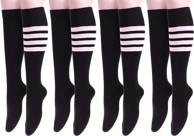 Women Womens Stripes Long Edge Mens Breathable Stripe Cotton Casual Socks