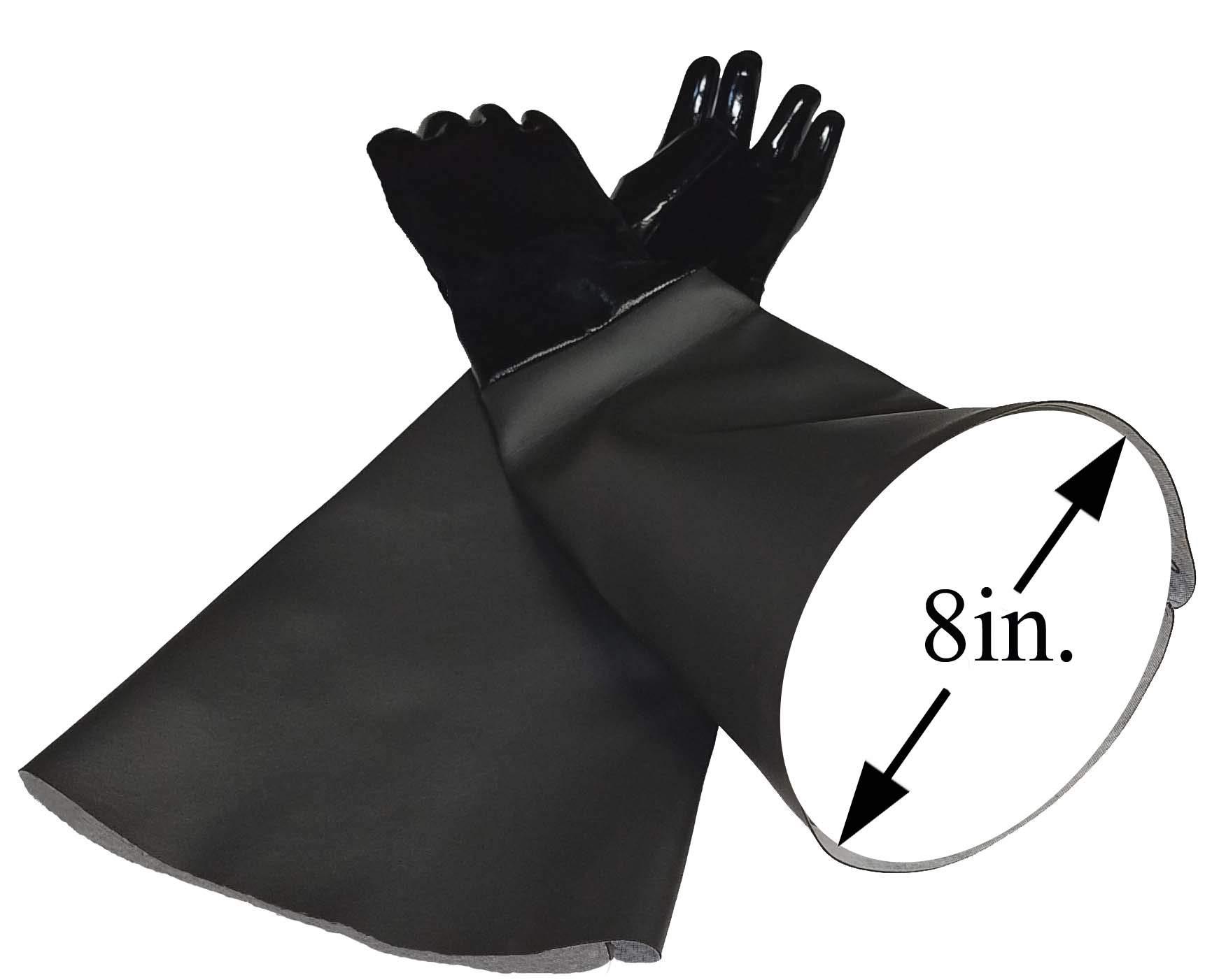 TUFF-Blast Neoprene Gloves for Sandblasting Sandblaster Sand Blast Cabinet - 8'' x 26'' Made in USA by TUFF-Blast