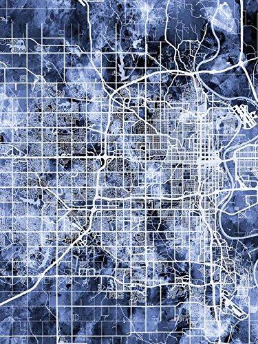 Imagekind Wall Art Print Entitled Omaha Nebraska City Map by Michael Tompsett | 36 x 48 ()