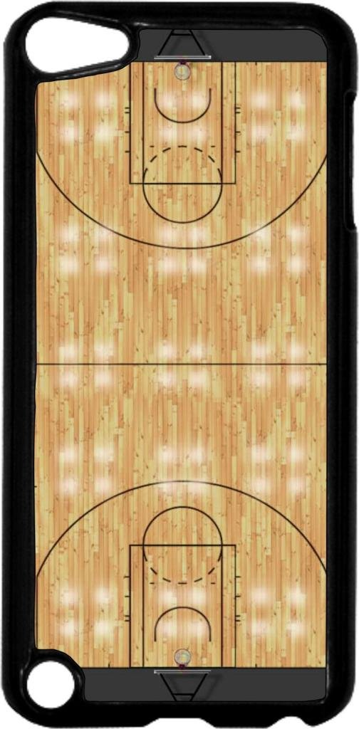 Basketball Court- Case for the Apple Ipod 5th Generation-Hard Black Plastic
