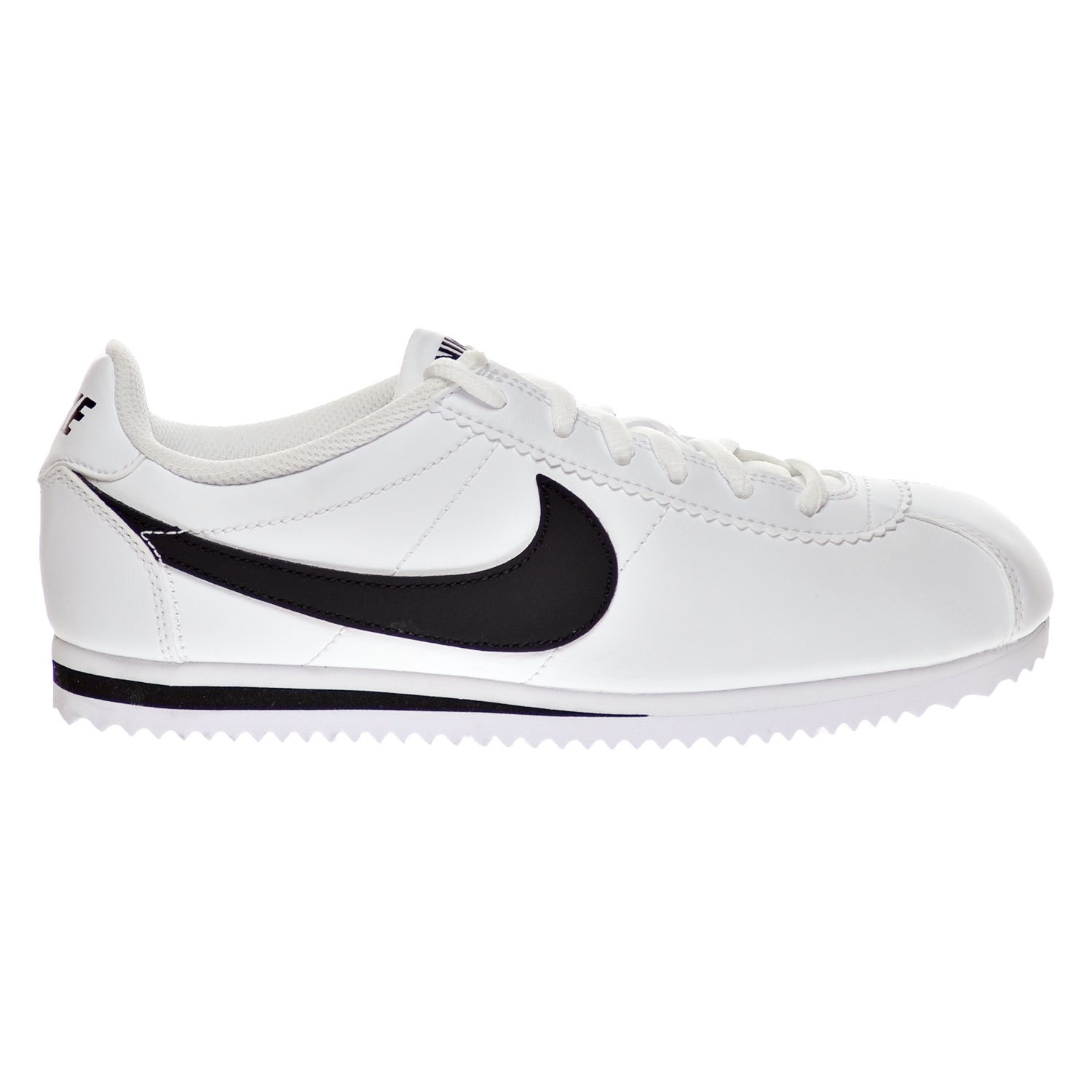 Amazoncom Nike Cortez GS Big Kids Shoes WhiteBlack 749482102 7 M  US Shoes