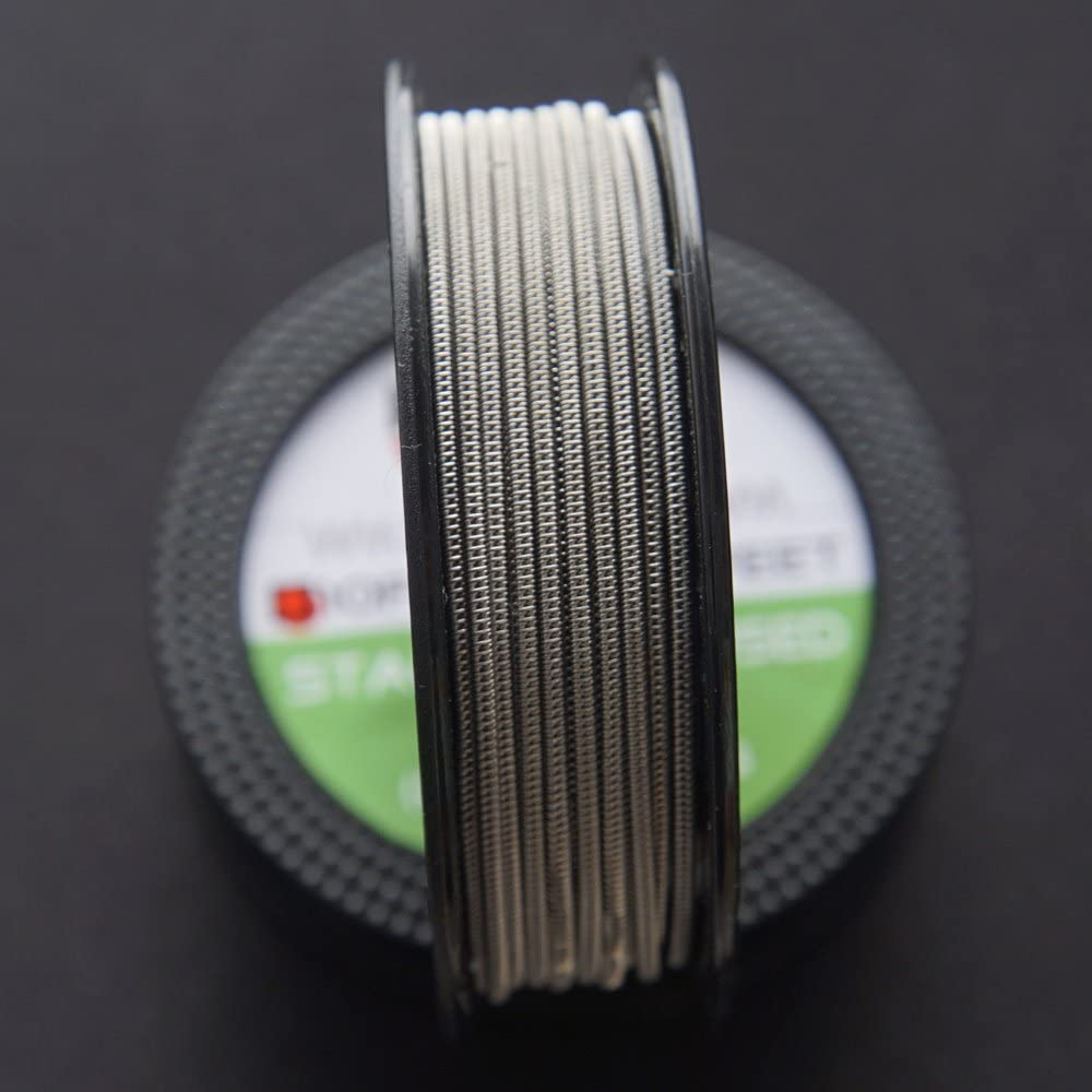 KANTHAL A1 x2+32GA Resistance Wire NI80 SS316 Wires 2 Packs Staggered Fused Clapton wire 10ft - 26GA+32GA