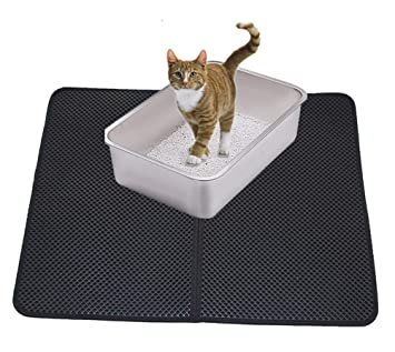 DAN Cat Litter Mat Estera De Arena Gato Alfombra De Basura Impermeable Trapping Mat, Doble Capa Fácil De Limpiar: Amazon.es: Deportes y aire libre