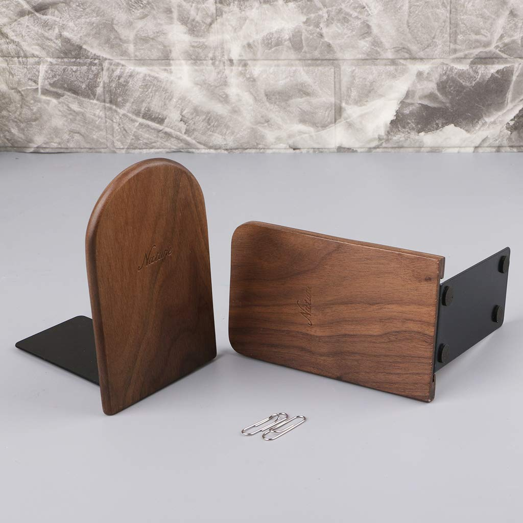 Lagand noce legno desktop organizer da scrivania ufficio casa Reggilibri fermalibri e supporto mensola 13x8cm//5.12x3.15in As the picture shown