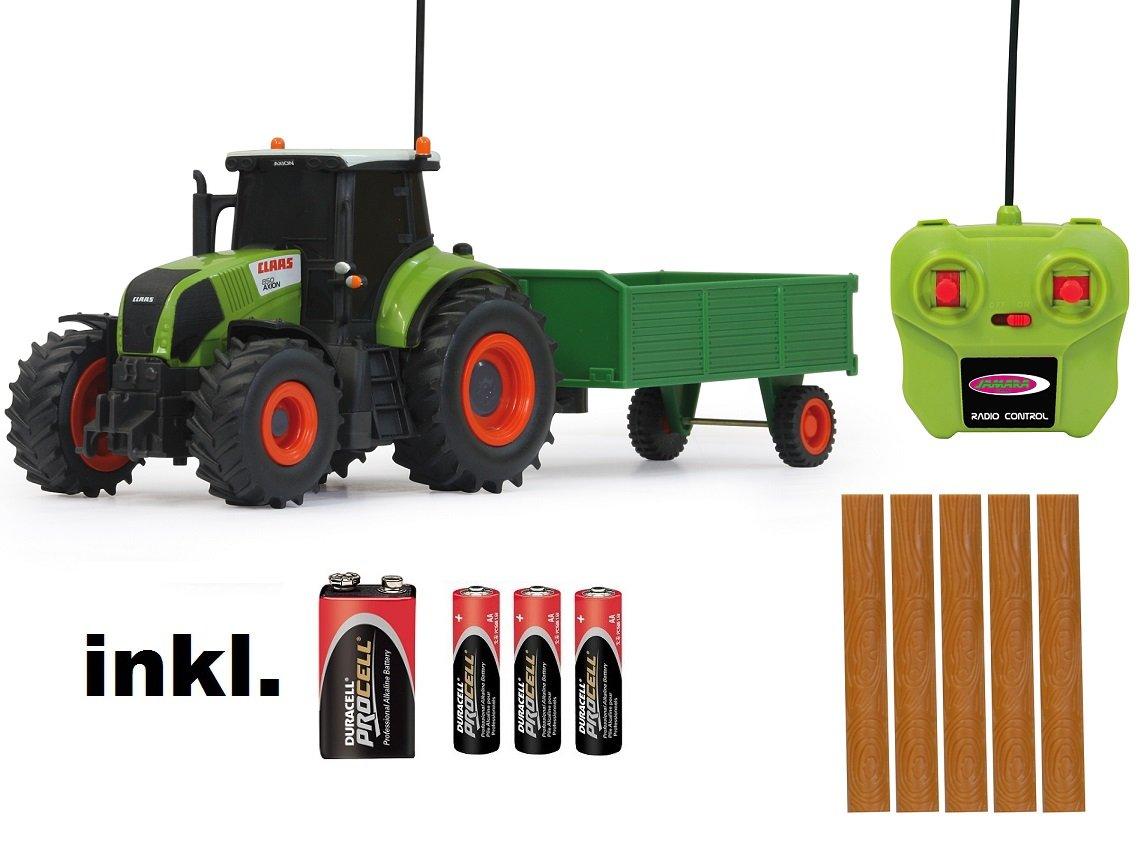 RC ferngesteuerter Traktor Claas Axion 850 mit Anhänger 1:28 - RTR - inkl. Batterien busduga
