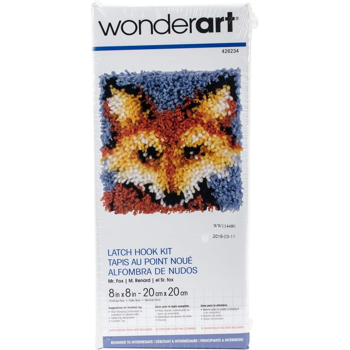 Wonderart Mr. Fox Latch Hook Kit, 8