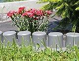 Prosper Plast IPAL7-S443 405 x 6 cm Garden Palisade - Grey