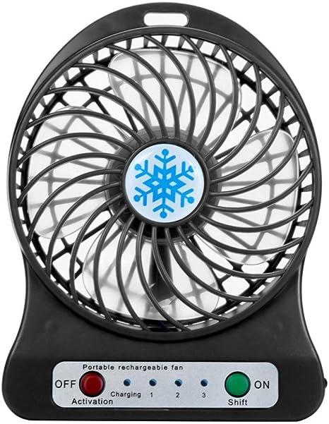 Masrin Ventilador refrigerador de aire portátil con luz LED, de ...