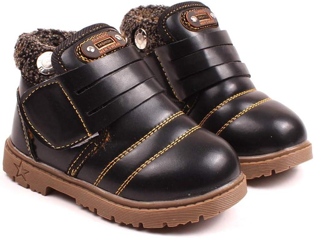 ZKOOO B/éb/é Enfants Martin Bottes Gar/çon Fille Chaud Doux Sneaker Neige Bottes Hiver Imperm/éable /Épais Coton Chaussures No/ël Bottines Mode D/écontract/ées