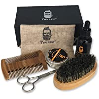 Beard Mustache grooming & maintenance,Beard brush kit,Beard sets including beard scissors,Bristle beard brush,mustache Wooden comb,mustache growth oil