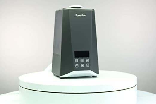PowerPure 5000 Warm /& Cool Mist Ultrasonic Humidifier Black Permanent Filter LCD Display Remote Control Included