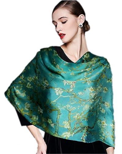 Prettystern - P309 100% delle donne di seta sciarpa di opere d'arte di pittura van Gogh Stampa artis...