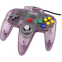 Classic N64 Controller Funtastic Atomic Purple Clear Retro Wired Game Pad Console Joystick for N64 Video Console 64…