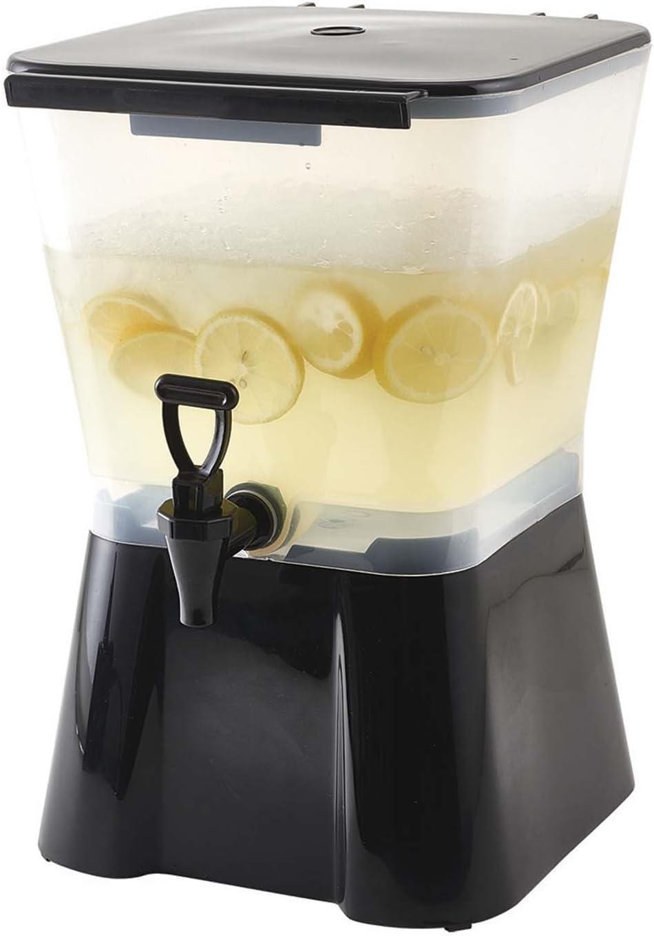 Winco Black Plastic 3-gallon Square Beverage Dispenser