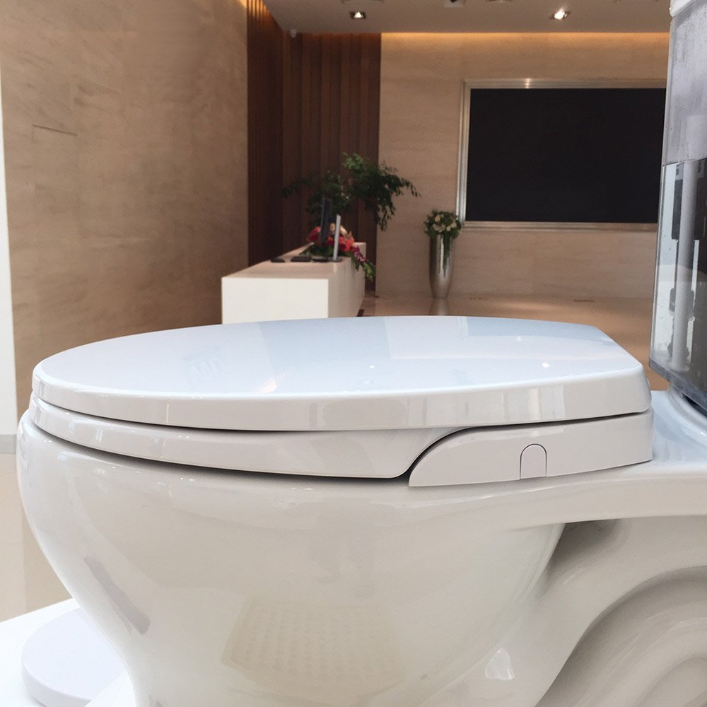 18 inch toilet seat.  Toilet Bidet Seat American Round Seats No Electricity Bathroom Washlet Dual Nozzles Sprayer for Bidets and Rear Washing Fitted 16 5 18 inch Hibbent Non Electric