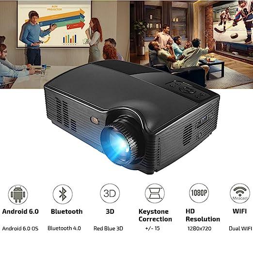 KAIDILA Proyector HD PH10, 3500 Lumen LED proyector, (Opcional 6.0 ...