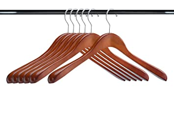 a1 hangers cherry wooden hangers set of 6 extra thick clothes hangers for coat