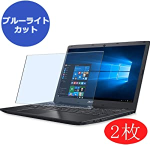 """【2 Pack】 Synvy Anti Blue Light Screen Protector for Acer Aspire E5-521 / E5-521G / E5-522 / E5-522G / E5-523 / E5-523G 15.6"""" Screen Film Protective Protectors [Not Tempered Glass]"""