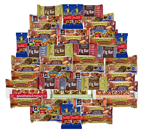 Multiple Healthy Lunch Bars Variety like: Peanuts, Fruit snacks, Granola bars, Candy Bar (Pack 50)