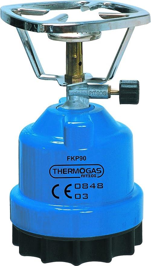 Camping hervidor de térmica de Gas Pitsos para estándar de Cartuchos de Gas 190 gr.