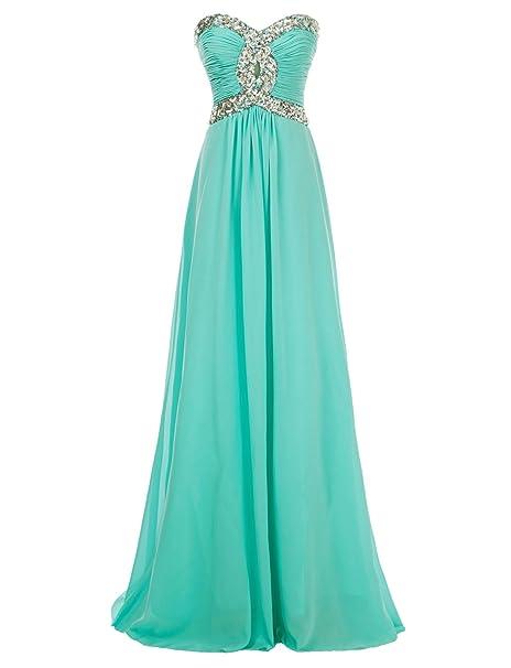 Eros ebridal del tesoro novia vestido larga noche de gasa Ropa Vestido De Pelota verde (