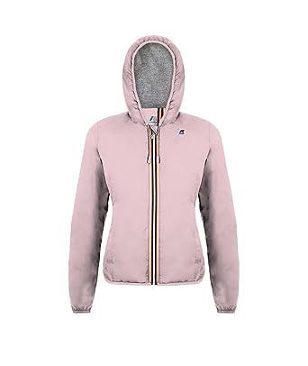 2348a007babc K-Way Giubbino Donna Lily Poly Jersey k008780 Pink Soft lilla h51 Slim  estivo ss18