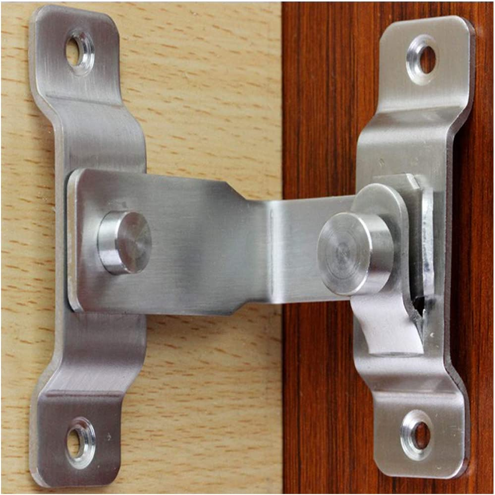 Hebilla de la puerta de 90 grados con cerradura de ángulo recto ventana de la puerta de la habitación puerta de la puerta hebilla hebilla de la puerta antirrobo cerradura de la