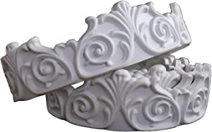 """Zhangbl Flexible Modelling Crown Mouldings Trim Home Artistic Decorate for Ceiling Wall Wardrobe 1.93"""" x 115"""" European Vintage Flower"""