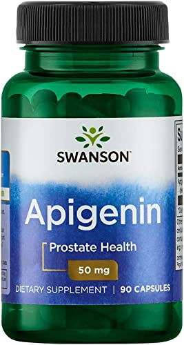Swanson Apigenin Prostate Health Supplements Nerve Health 50 mg 90 Capsules