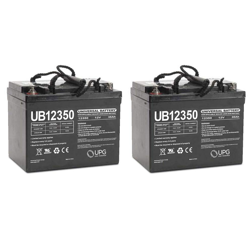 Universal Power Group UB12350 12V 35AH Internal Thread Battery for Rascal 600T Scooter - 2 Pack by Universal Power Group