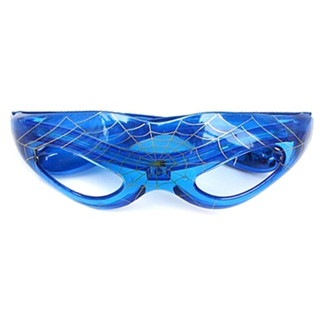 Asatr LED Light Festival Party Glasses No Lens Glowing Glasses (Blue)