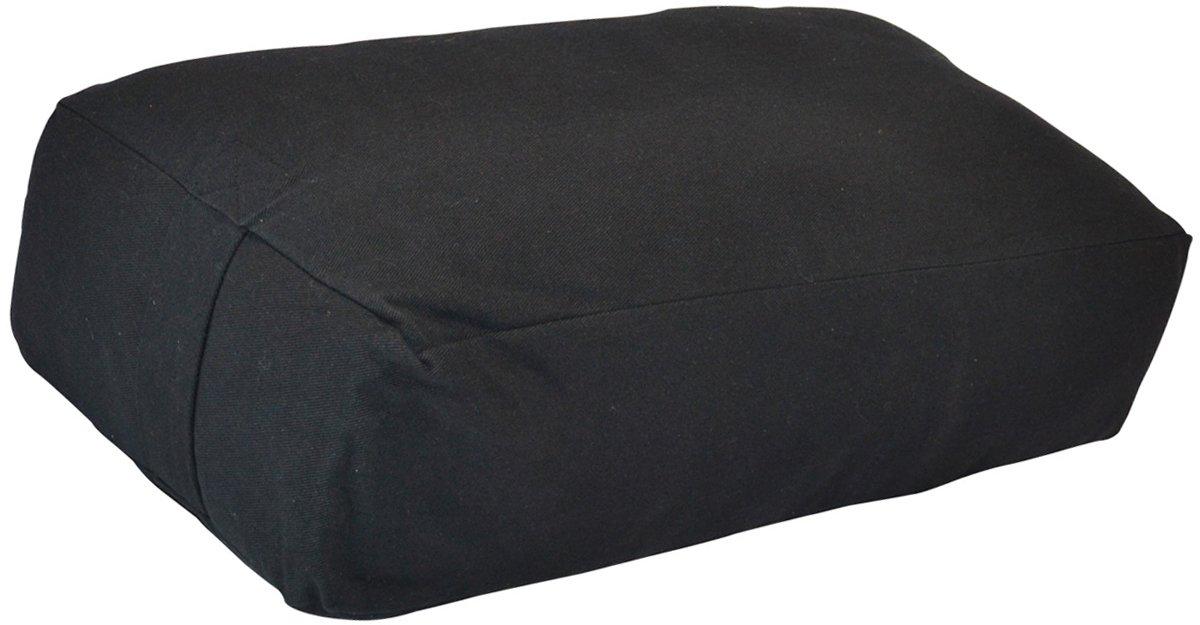 YogaAccessories サポート用ヨガ枕 長方形 コットン B002HJDCQG ブラック ブラック
