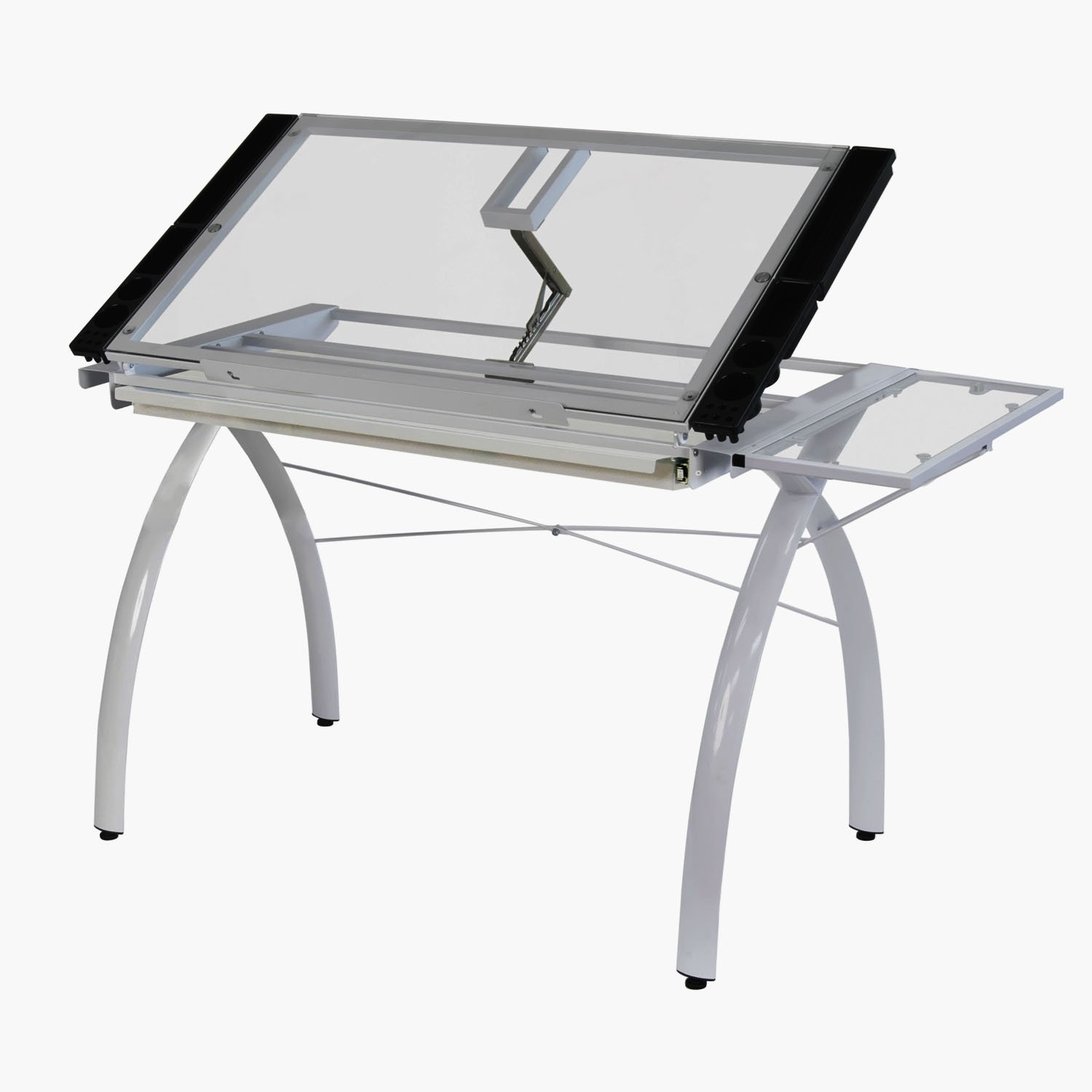 Studio designs futura craft station with glass top - Amazon Com Studio Designs 10096 Futura Craft Station With Folding Shelf White With Clear Glass Arts Crafts Sewing