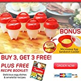 Egg Cooker Hard Boiled Eggs Without the Shell,Non Stick Silicone Egg Poachers(6 Pack Cups)