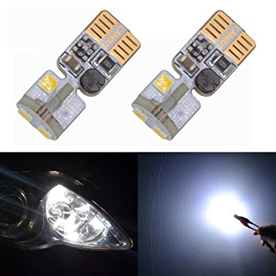194 LED Bulb White Canbus Error Free T10 W5W 168 2825 Bulbs for 12V Dome Side Marker License Plate Wedge Interior Lights(Pack of 2): Automotive