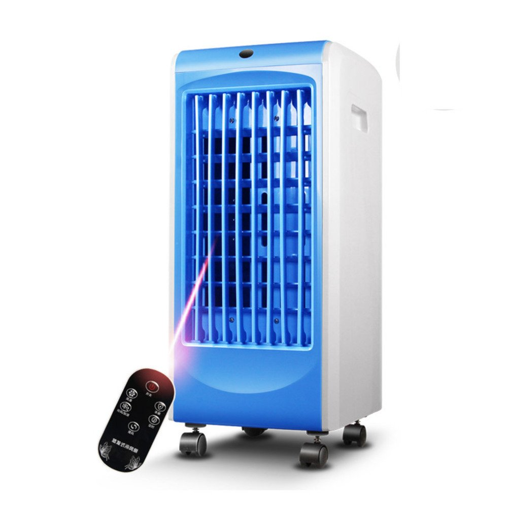 【★大感謝セール】 家のエアコン B07DMDJZL7 4 4 キャスター,単一の冷たいエアコン ファンに冷たいうちわミニ蒸気化クーラー-青 青 青 B07DMDJZL7, BAROCCA(バロッカ):1f819bd6 --- vanhavertotgracht.nl