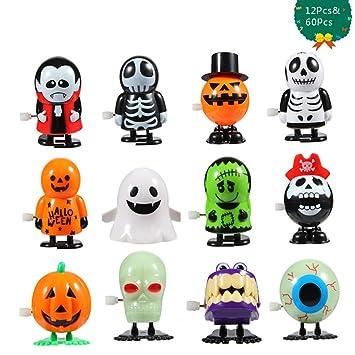 Amazon.com: FunsLane 12 piezas de juguete de Halloween y 60 ...