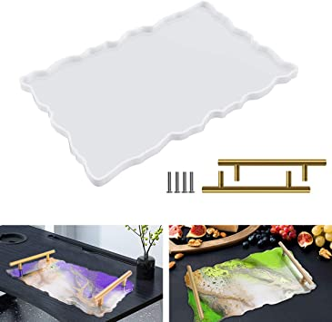 Handmade Resin DIY Art Silicone Fruit Plate Mold Table Mat Coasters Tray Mould