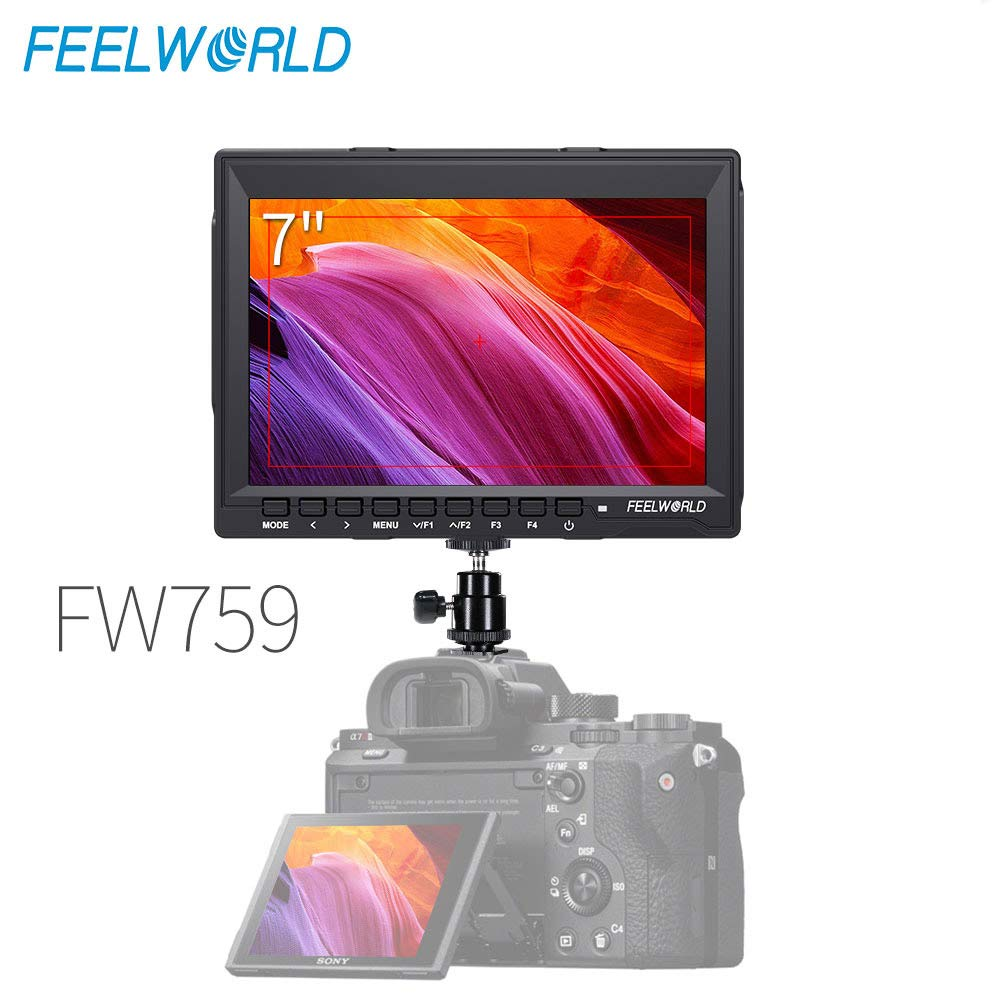 Feelworld FW759 7 Inch IPS Screen HD 1280x800 Ultra-Thin Design On-Camera Field Monitor Portable Small Monitor by FEELWORLD