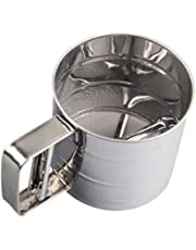 welim Copa tamiz Manual polvo tamiz tamiz Harina Tamiz colador herramienta de acero inoxidable para polvo Screening
