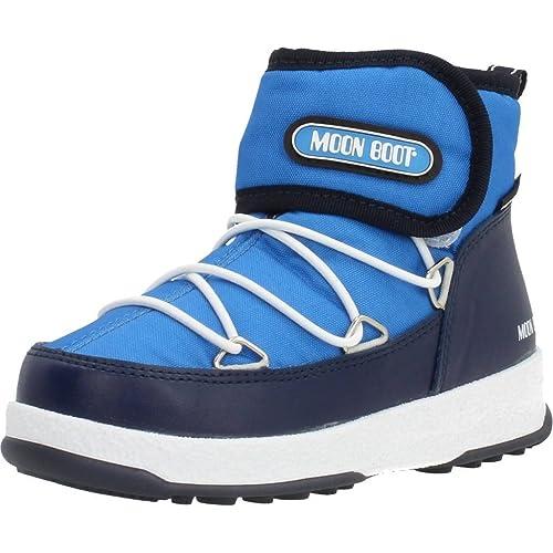 5a896c76a6 Moon Boot Stivali Bambino, Color Blu, Marca, Modelo Stivali Bambino We JR  Strap WP Blu: Amazon.it: Scarpe e borse