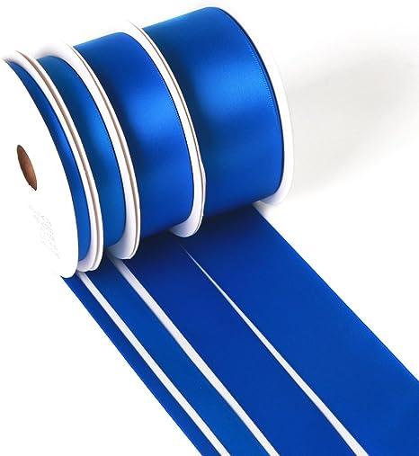 LIGHT BLUE Grosgrain Ribbon 50 YARD roll ASSORTED WIDTHS Sewing /& Decorating