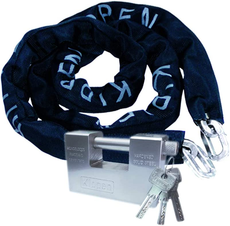 10/x 1500/mm Black Kippen 2011/C Anti-Theft Chain with Security Lock for Motorbike and Scooter