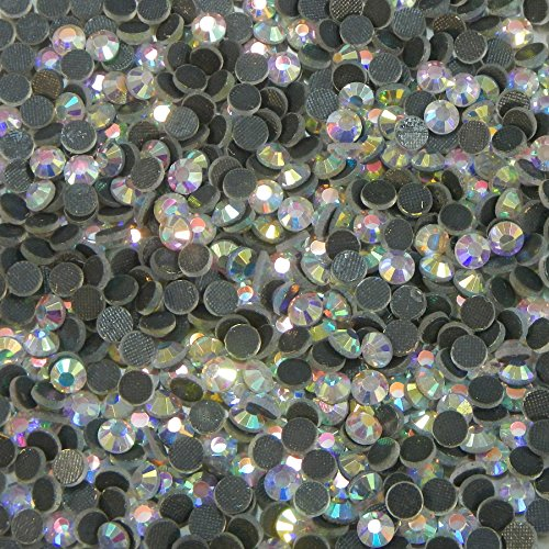 n Hotfix Crystal Rhinestones, 720 Pcs- 5 Gross Many Colors Ss6, Ss10, Ss16, Ss20 (ss10 - 3mm, Crystal Clear AB) (Fixe Menu)